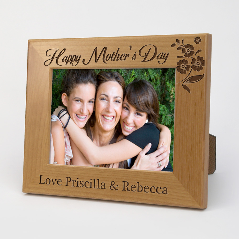 happy mothers day custom wood picture frame - Mother Picture Frame