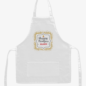 Happy New Year Sparkle Personalized Kids Craft Apron