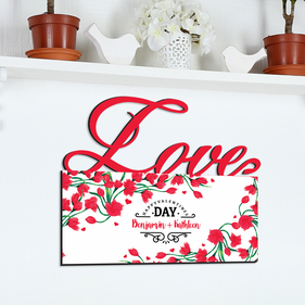 Happy Valentine's Day Custom Couples Love Wall Sign