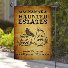 Haunted Estates Personalized Garden Flag