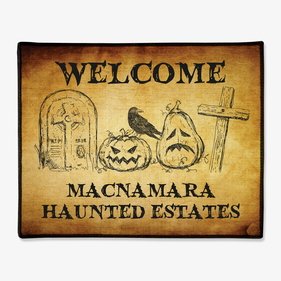 Haunted Estates Personalized Welcome Doormat