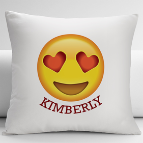 Heart-Shaped Eyes Customized Emoji Decorative Cushion Cover
