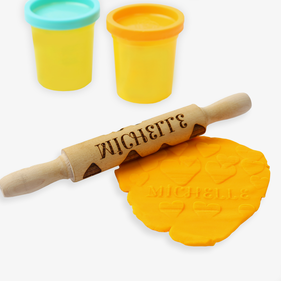 Hearts Personalized Mini Wooden Rolling Pin