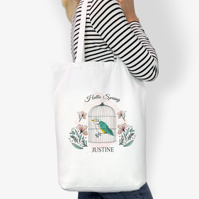 Flash Sale - Hello Spring Customized Cotton Tote Bag