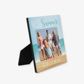 Hello Summer Custom Photo Hardboard Picture Frame
