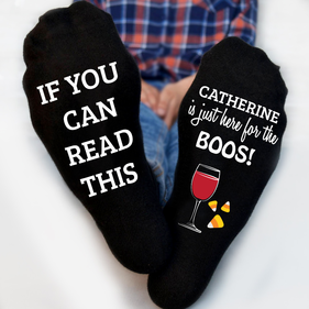 Here For The Boos Personalized Tube Socks