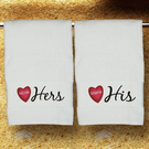 His & Hers Personalized Bath Towel