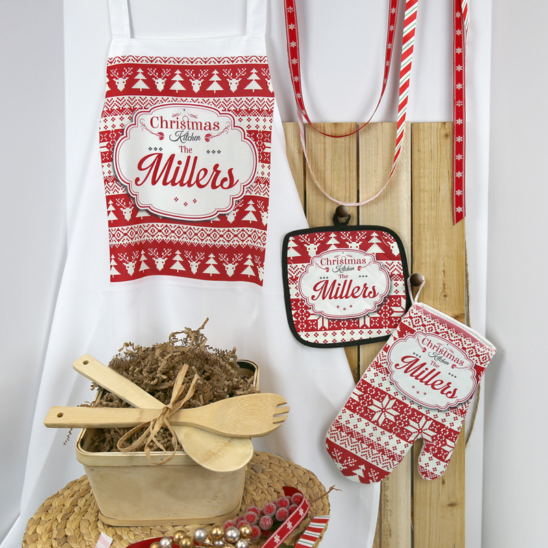 Home is where the heart is personalized family kitchen for Christmas kitchen gift basket ideas