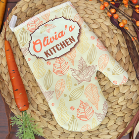"""""""Home Is Where The Heart Is"""" Personalized Oven Mitt"""