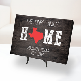 Home State Established Custom Canvas Print