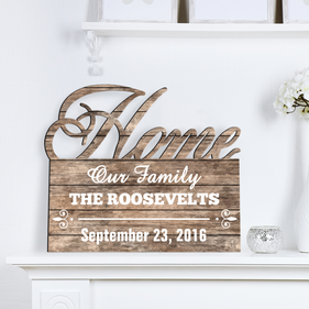 Home Wood Personalized Name Wall Sign