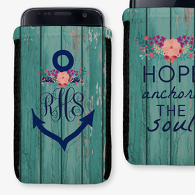 Hope Anchors The Soul Custom Phone Pouch