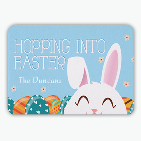 Flash Sale - Hopping Into Easter Personalized Floor Mat
