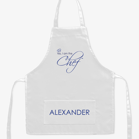 I Am The Chef Personalized Kids Apron