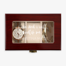 I Can And I Will 3-slot Custom Wood Watch Case