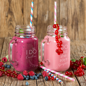 I Do, I Do What She Says Custom Mason Jar