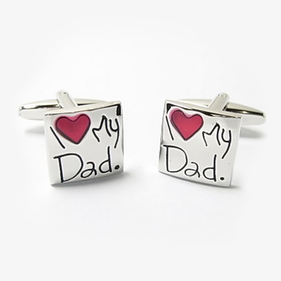 I Heart My Dad Cuff Links