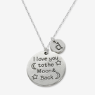 I Love You To the Moon & Back Initial Charm Necklace