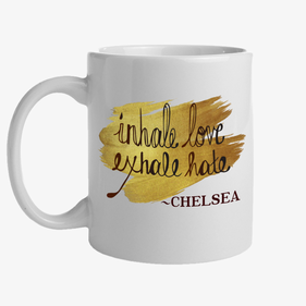 Inhale Love Exhale Hate Custom Ceramic Mug