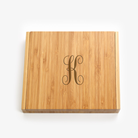 Initial Personalized 5 Piece Bamboo Cheese Set