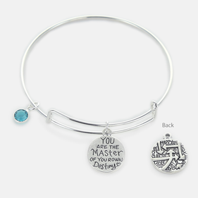 Inspirational You are the Master of Your Own Destiny Bangle