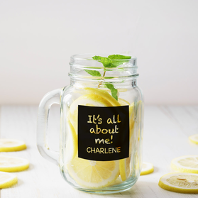 It's All About Me Personalized Mason Jar