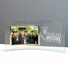 Jade Glass Custom Graduation Crescent With Picture Frame