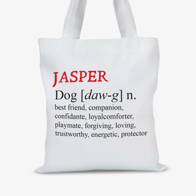 Jasper Personalized Pet Definition Tote Bag