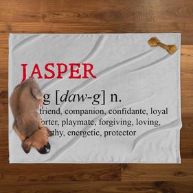 Jasper Personalized Plush Pet Blanket