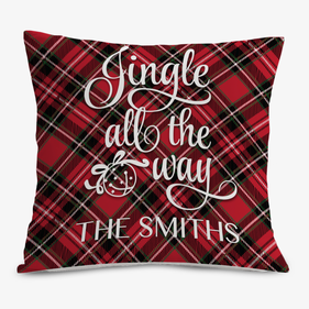 Jingle All The Way Custom Decorative Cushion Cover