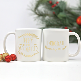 Joy To The World Personalized Ceramic Mug