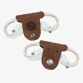 Kids Block Monogram Leather Puppy Cord Holder