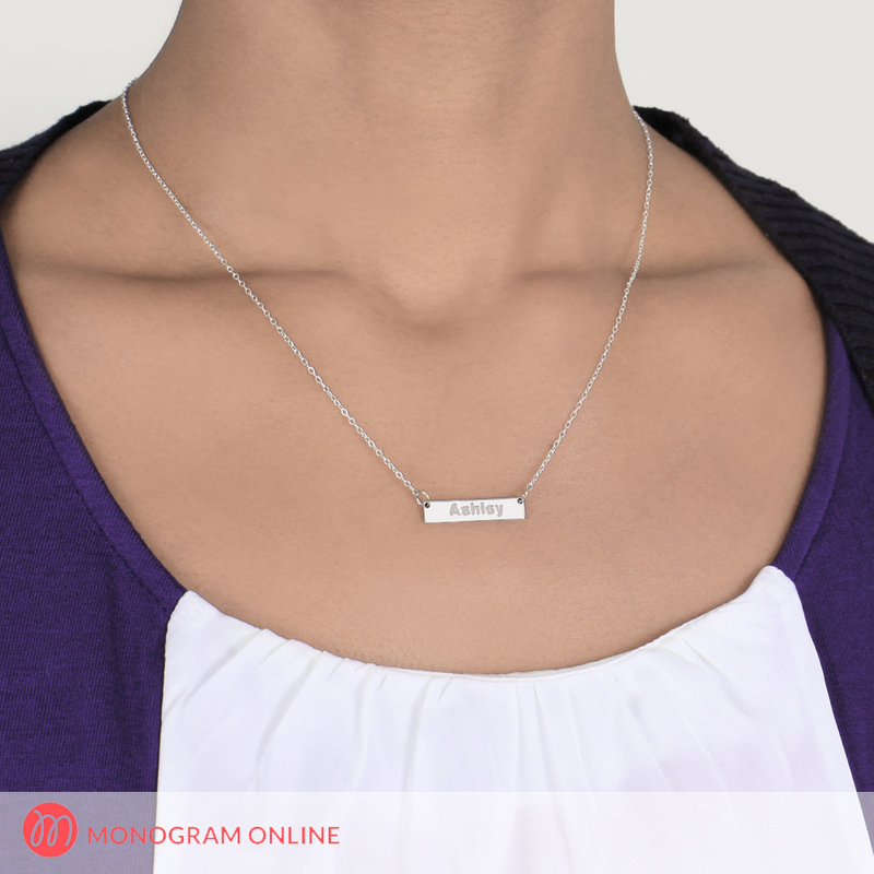 Sterling silver mini bar necklace personalized with name sterling silver mini bar necklace personalized with name aloadofball Gallery