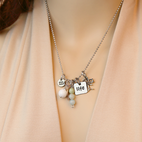 Life Custom Initial Charm Necklace