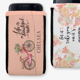 Life Is A Beautiful Ride Custom Phone Pouch
