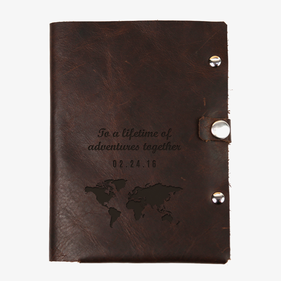 Lifetime Adventure Custom Genuine Leather Passport Holder