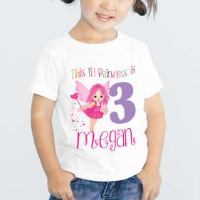 Exclusive Sale - Lil Princess Personalized Birthday T-Shirt for Kids