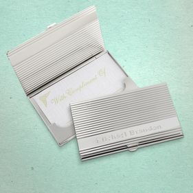 Linear Personalized Card Case