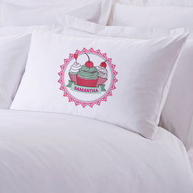 Little Cherry Cupcakes Personalized Pillowcase
