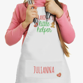 Little Helper Custom Christmas Kids Apron
