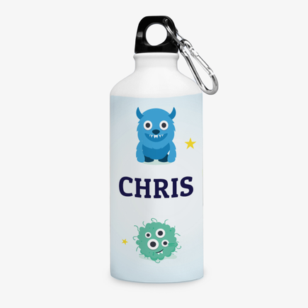 Little Monsters Personalized Aluminum Water Bottle