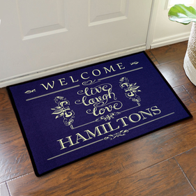 Live Laugh Love Custom Welcome Doormat