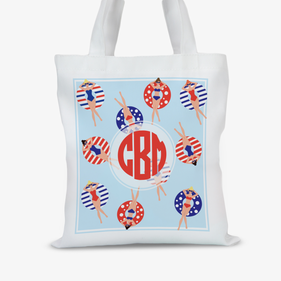 Lounging in the Pool Personalized Tote Bag