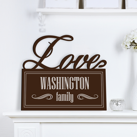 Love Family Custom Name Wall Sign