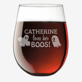 Loves her Boos Custom Stemless Wine Glass