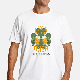 Luck of the Irish Personalized T-Shirt for Men