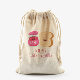 Lunch And Snack Personalized Mini Essential Drawstring Sack