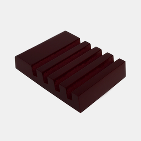 Mahogany Finish Slotted Coaster Holder