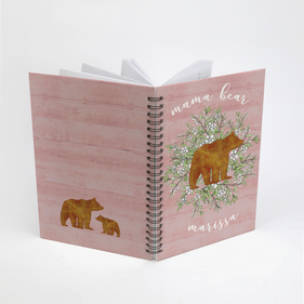 Mama Bear Personalized Spiral Notebook