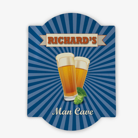 Man Cave Personalized Wall Bar Sign